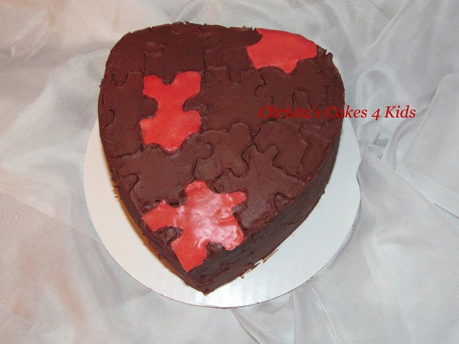 Love Is A Puzzle...  on Cake Central