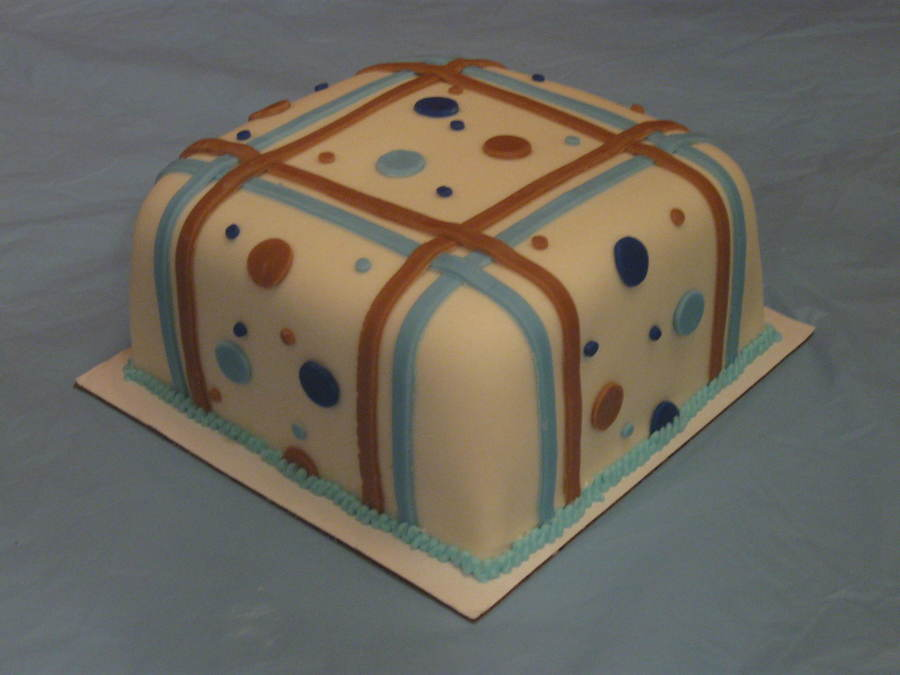 Blue/ Tan Smash Cake on Cake Central