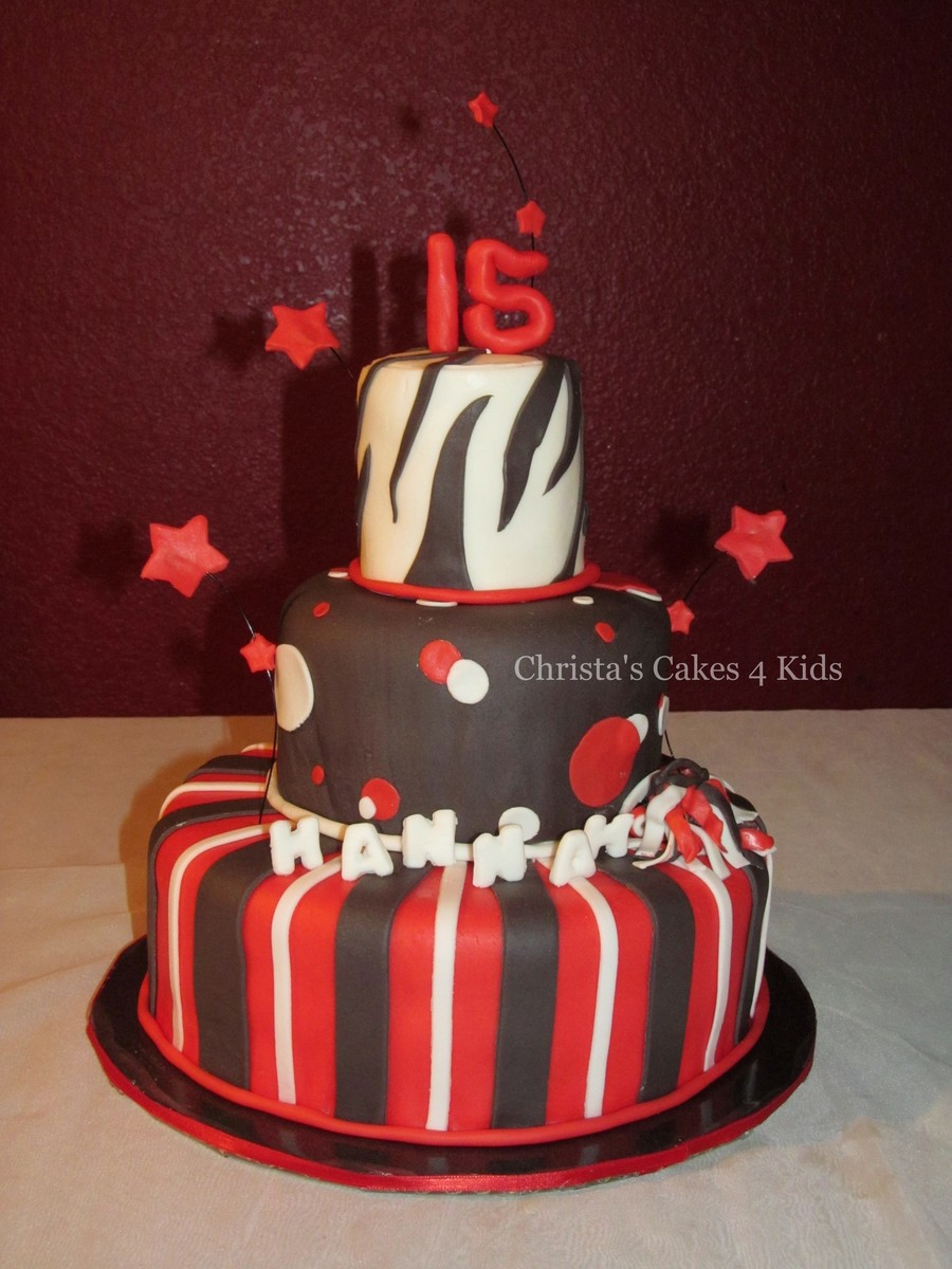 Red And Black Fun on Cake Central