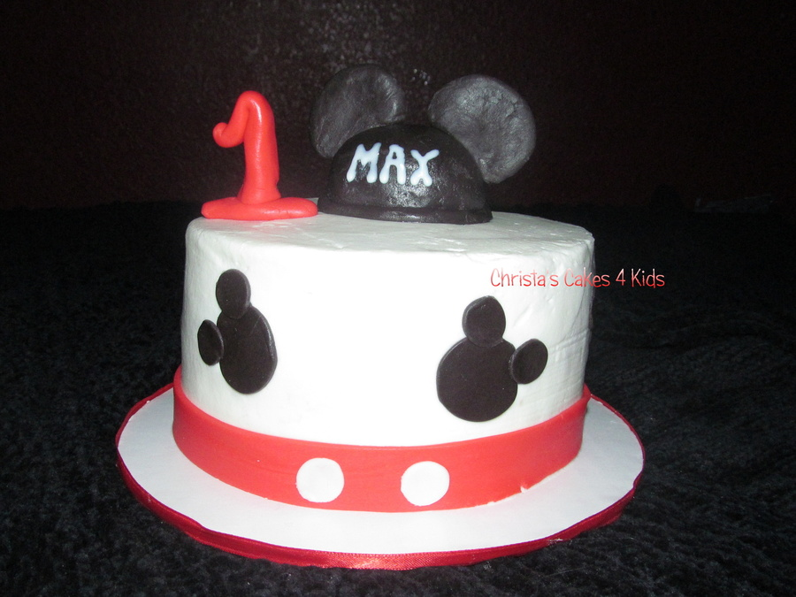 Mickey Mouse Smash Cake on Cake Central