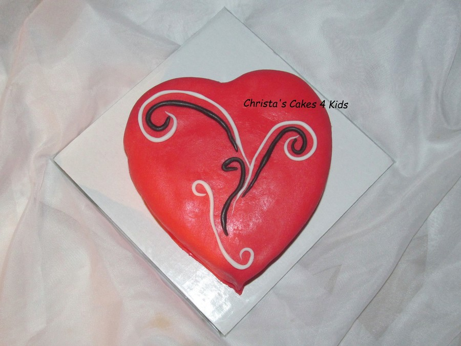 Valentine Swirls on Cake Central