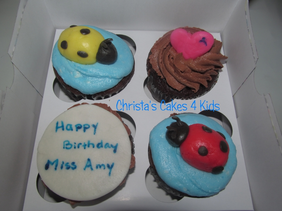 Lovebug Cupcakes  on Cake Central