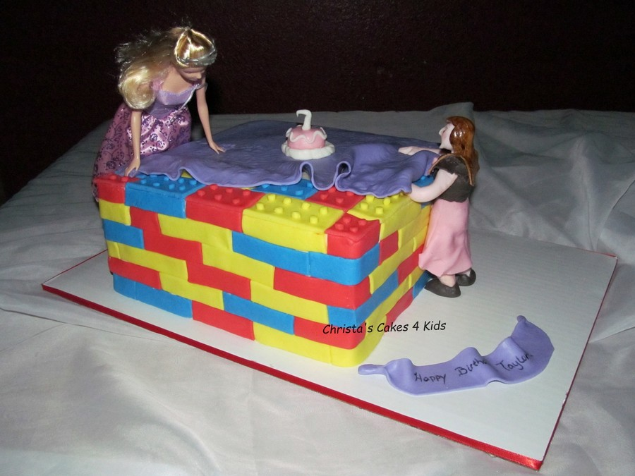 Lego And Barbie Unite  on Cake Central