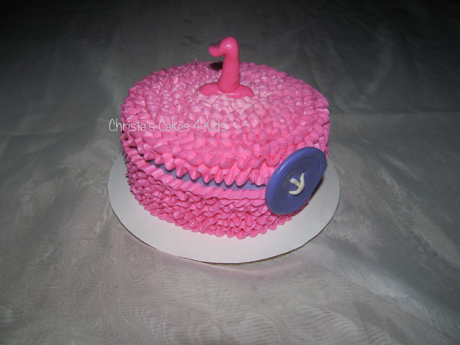 Ruffle Smash (Cute As A Button) on Cake Central