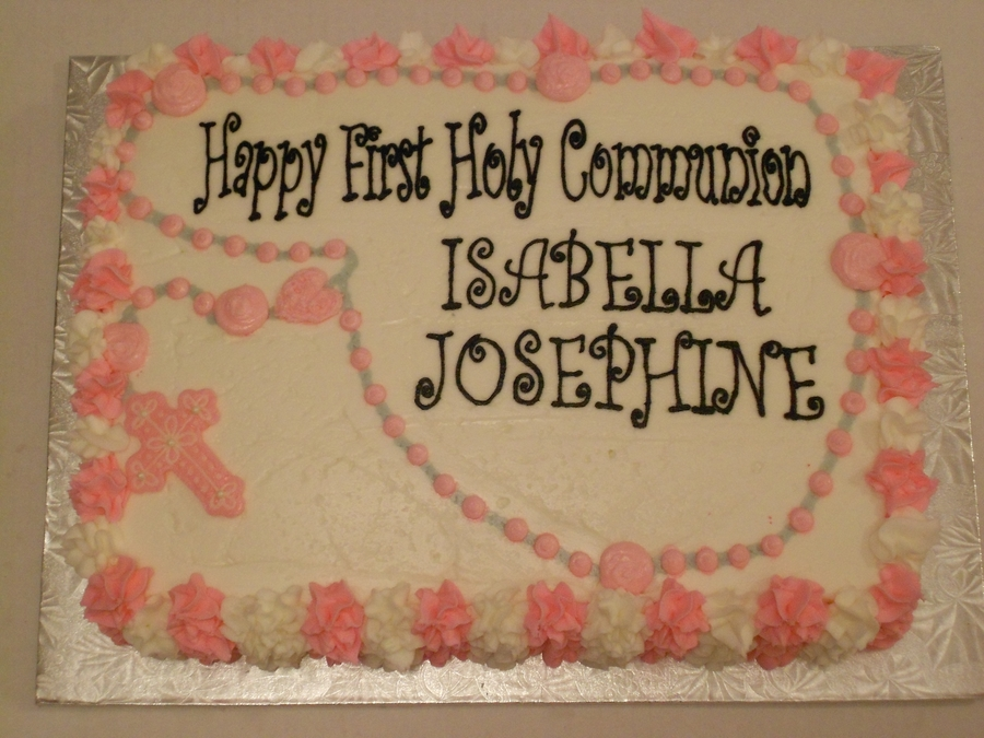 Communion Cake..cross on Cake Central
