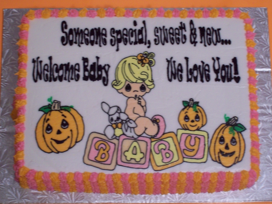 Percious Moments Baby Shower..fall Theme on Cake Central