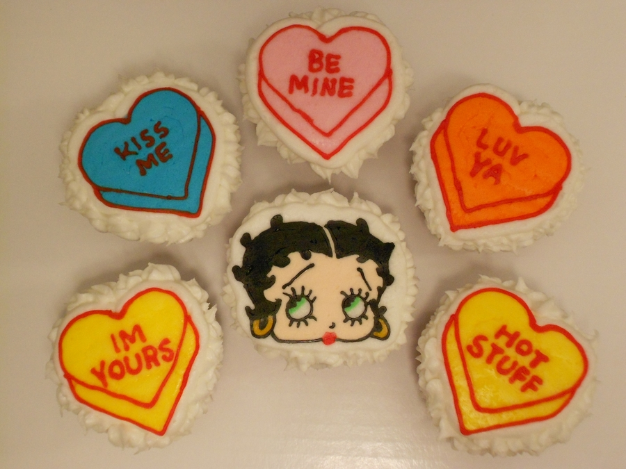 Betty Boop And Heart Cupcakes on Cake Central