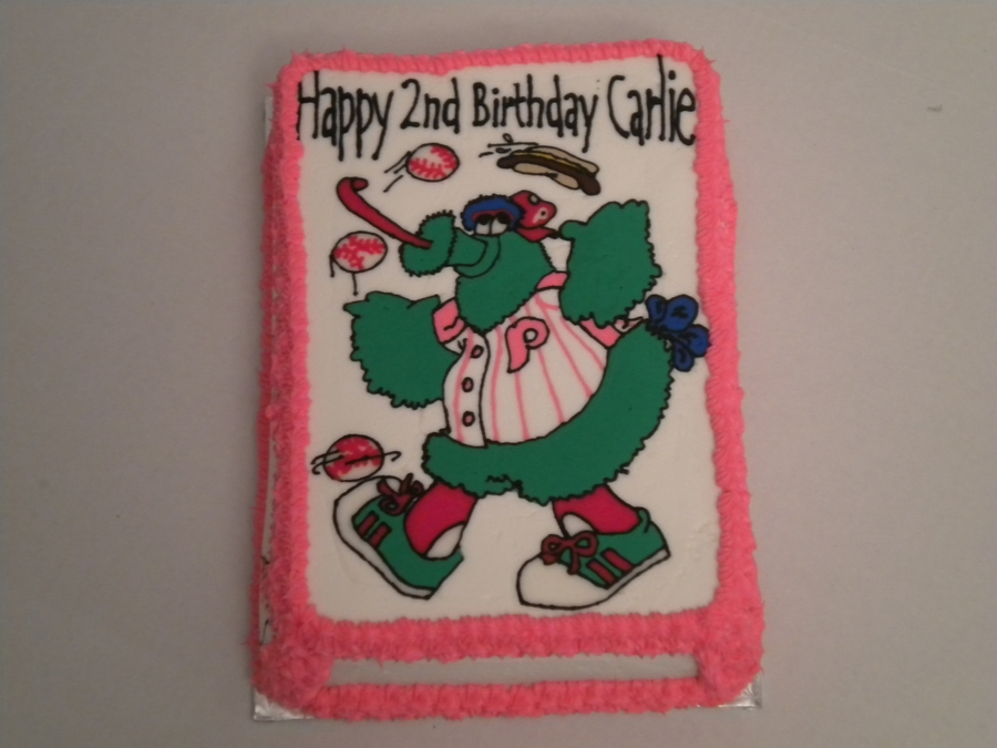 Phillie Phanatic on Cake Central