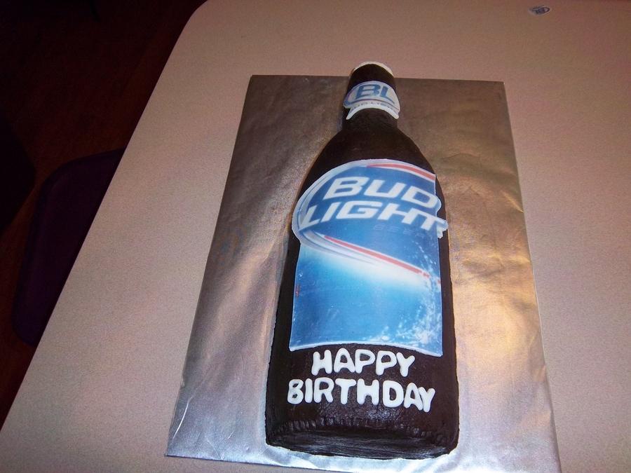 Cool Bud Light Birthday Cake Cakecentral Com Funny Birthday Cards Online Elaedamsfinfo