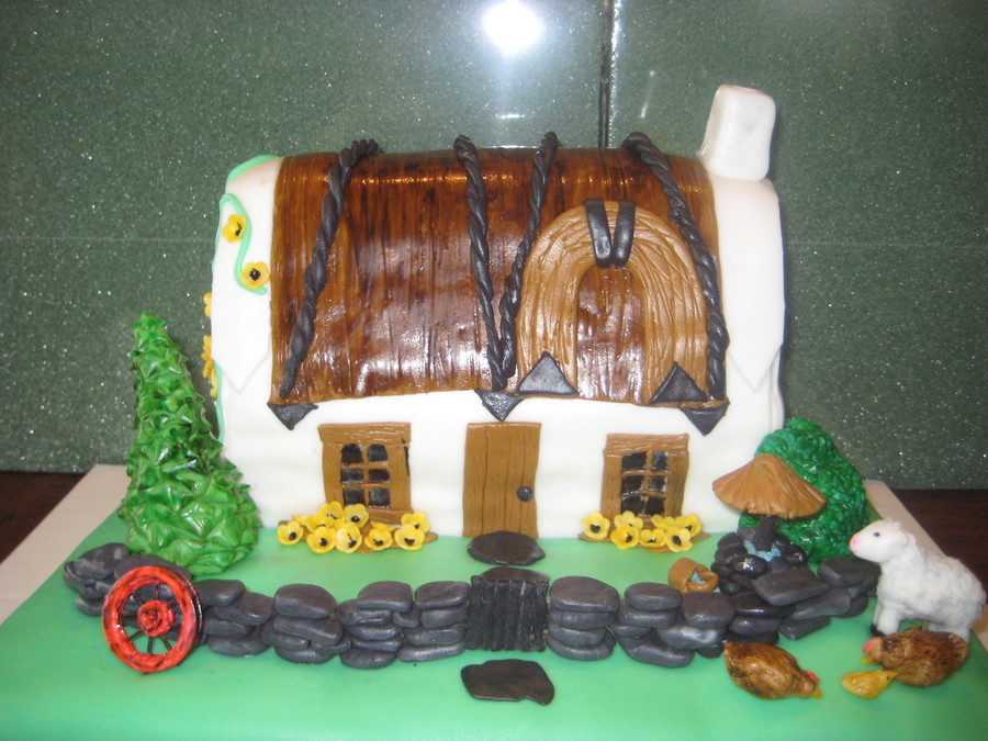 Irish Cottage on Cake Central