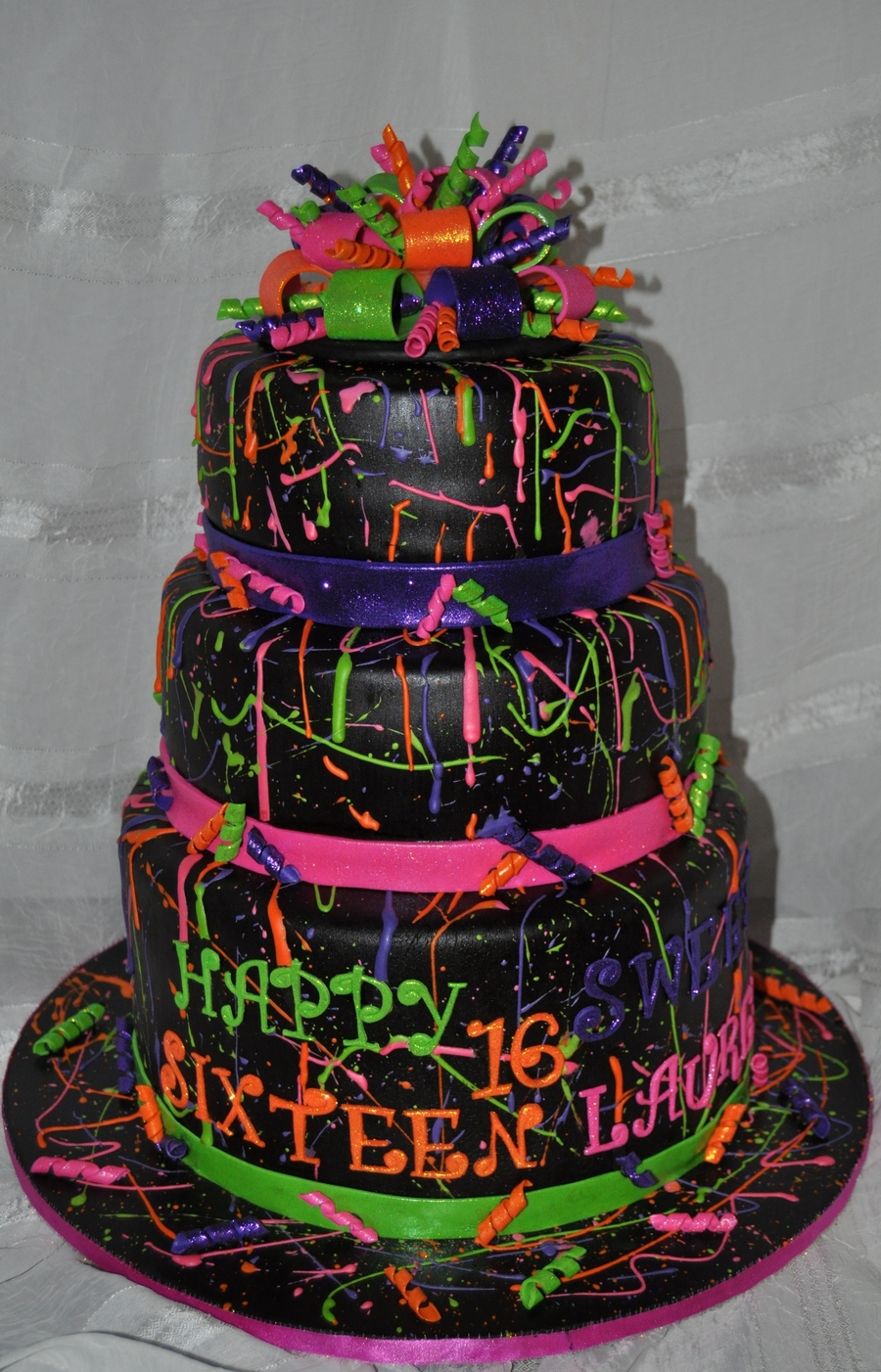 Neon Paint Splatter Cake Recipe