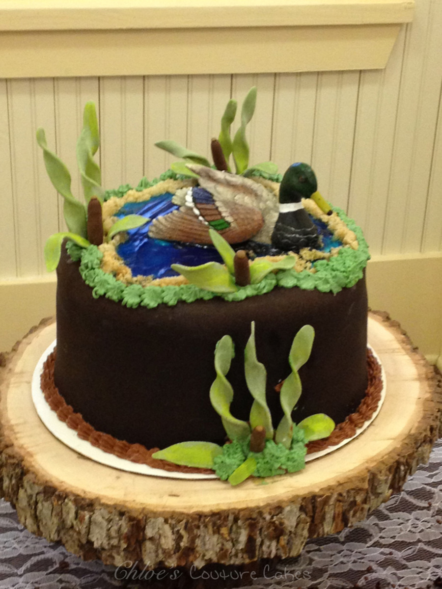 Duck Pond Grooms Cake Red Velvet With Cream Cheese Frosting Covered In Fondant on Cake Central