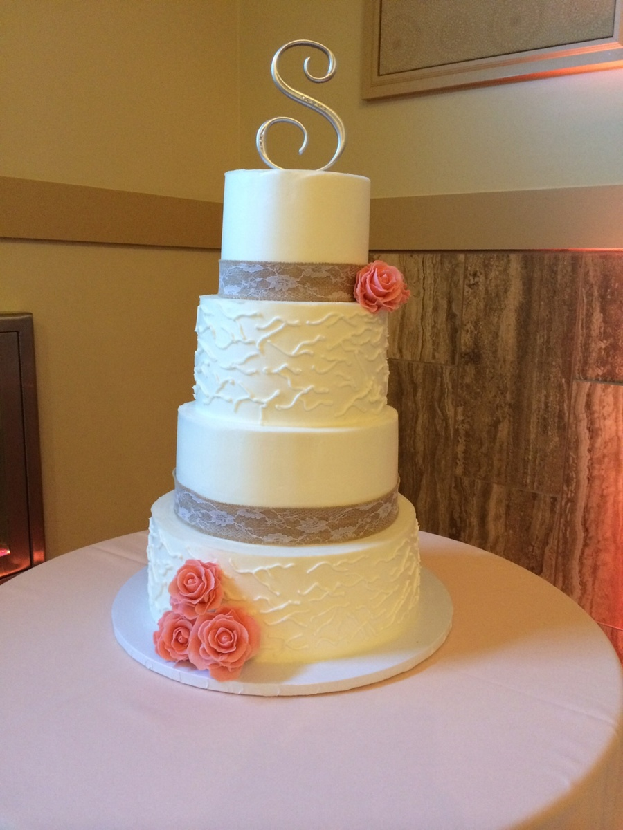 Rustic Country Wedding Cake - CakeCentral.com