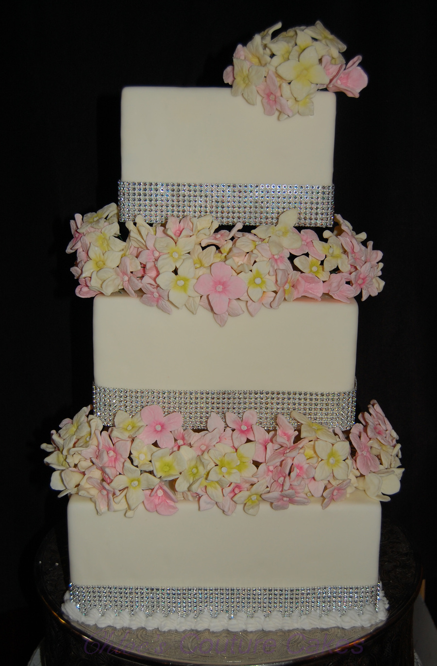 Hydrangea Bling  on Cake Central