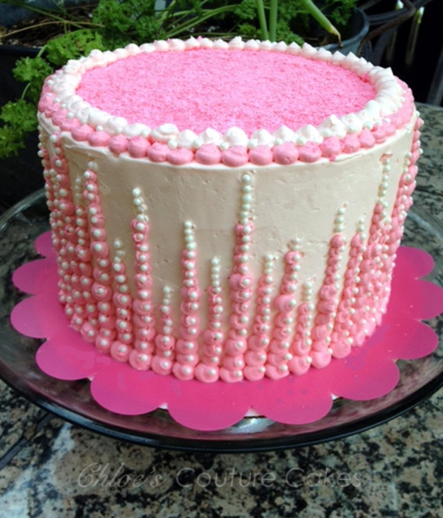 Pink Champagne Cake on Cake Central