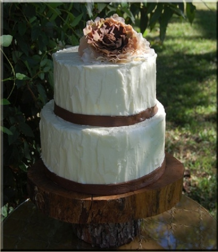 Rustic Peonie Wedding Cake on Cake Central