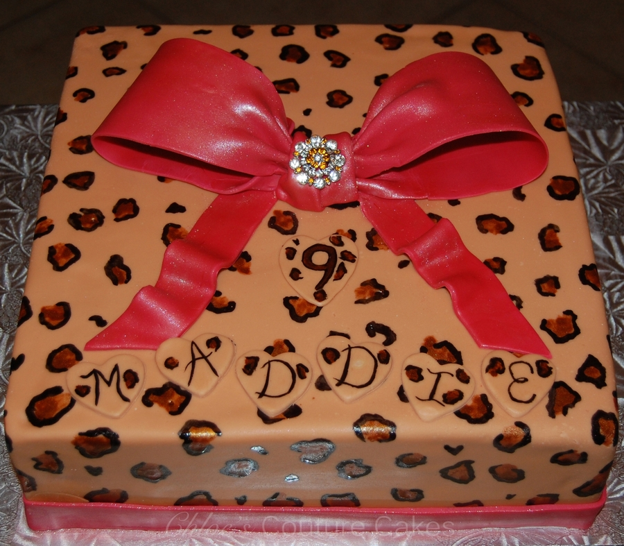 Leopard Spotted Cake on Cake Central