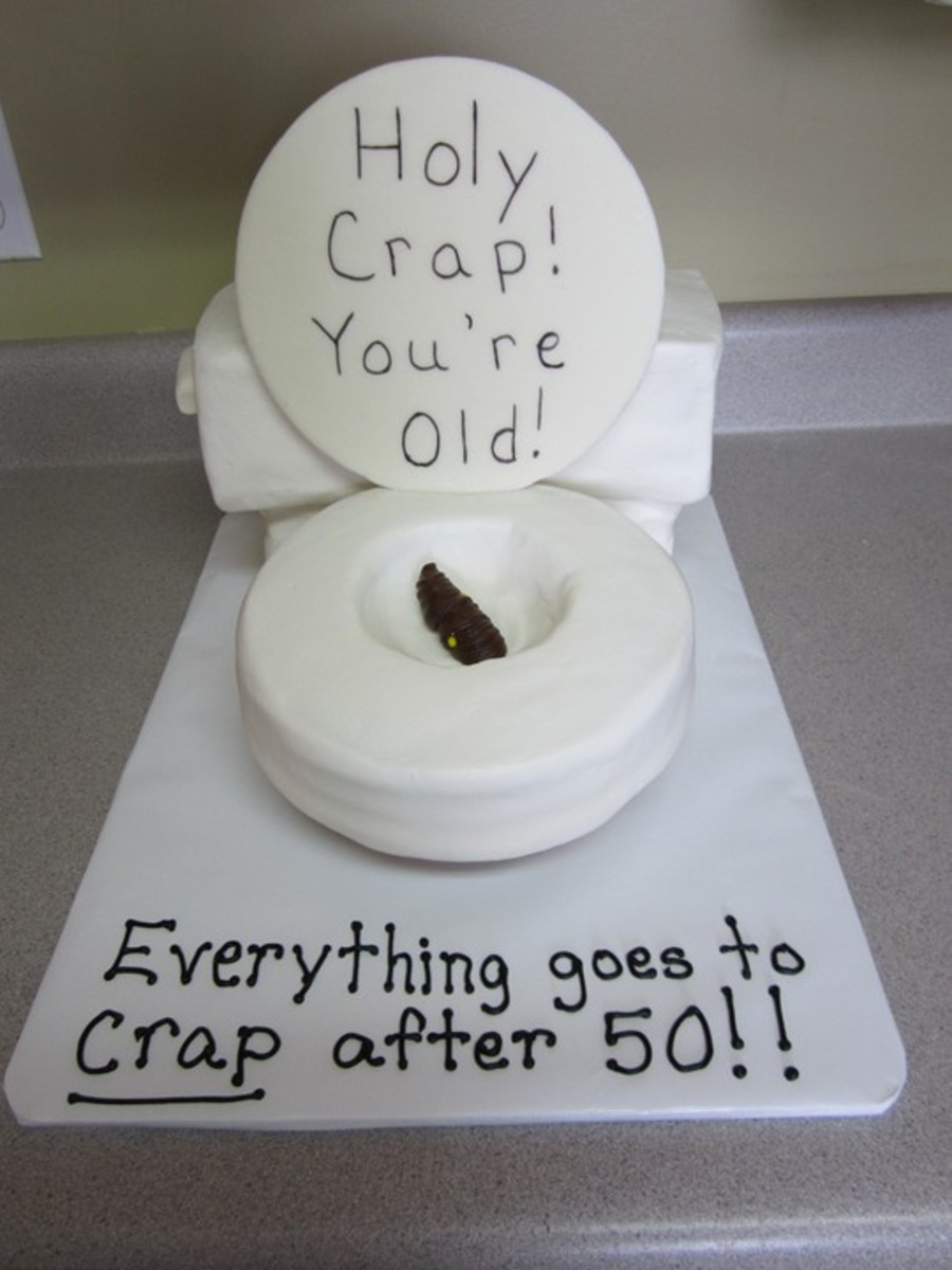 Holy Crap You're Old! on Cake Central
