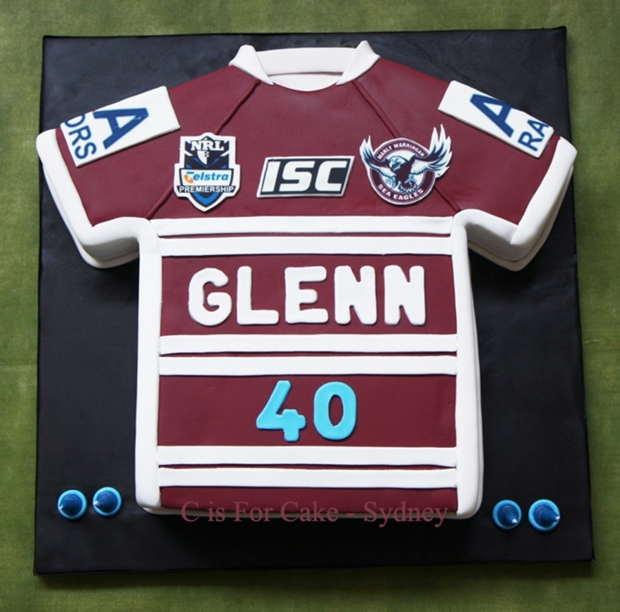 Manly-Warringah Sea Eagles Jersey on Cake Central
