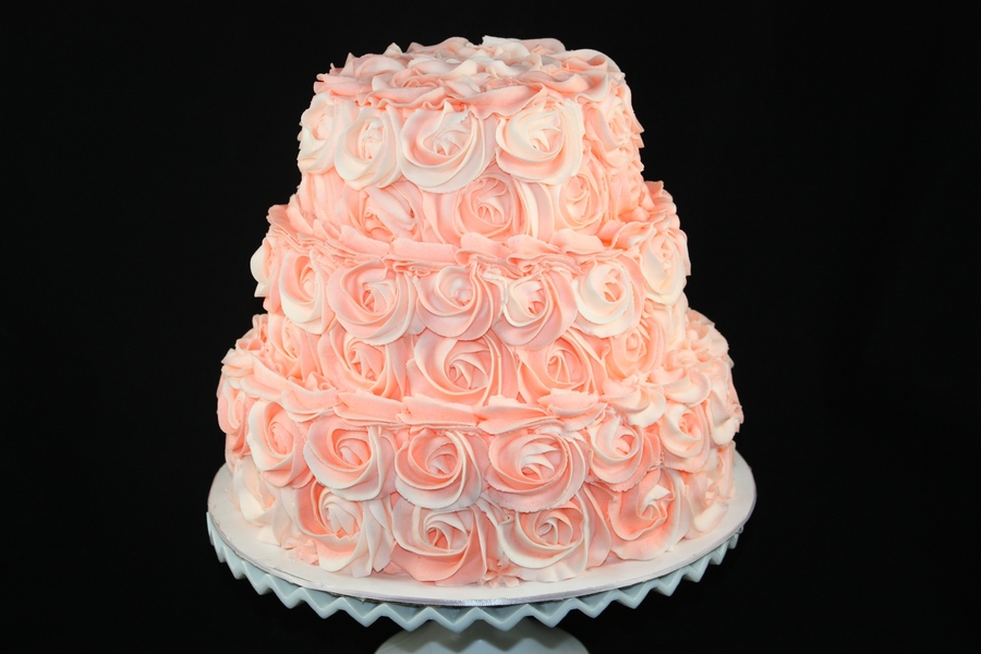 Peach Rosettes on Cake Central