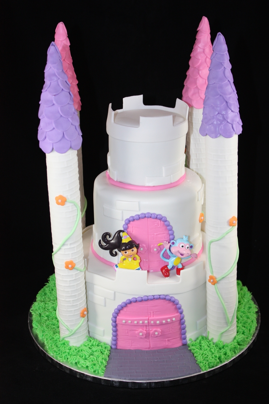 Dora Princess Cake  on Cake Central