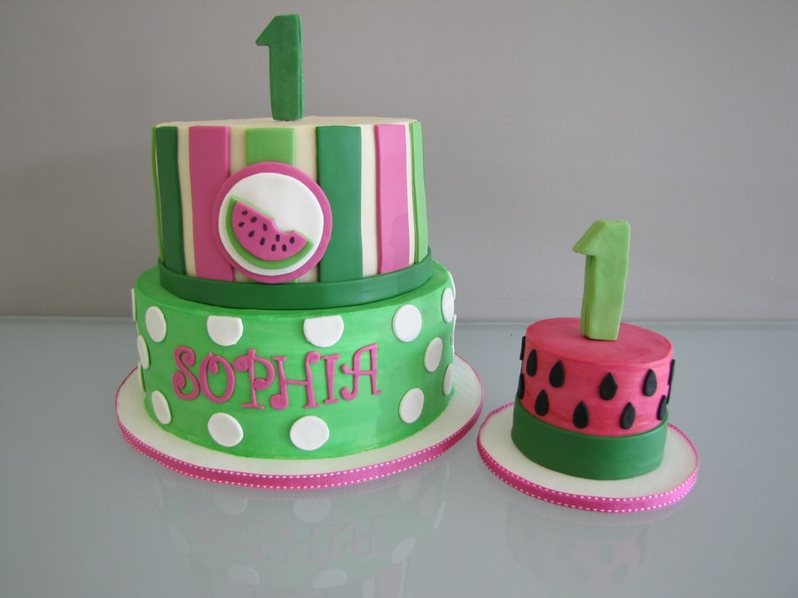 Terrific Watermelon Birthday Cake Cakecentral Com Funny Birthday Cards Online Inifofree Goldxyz