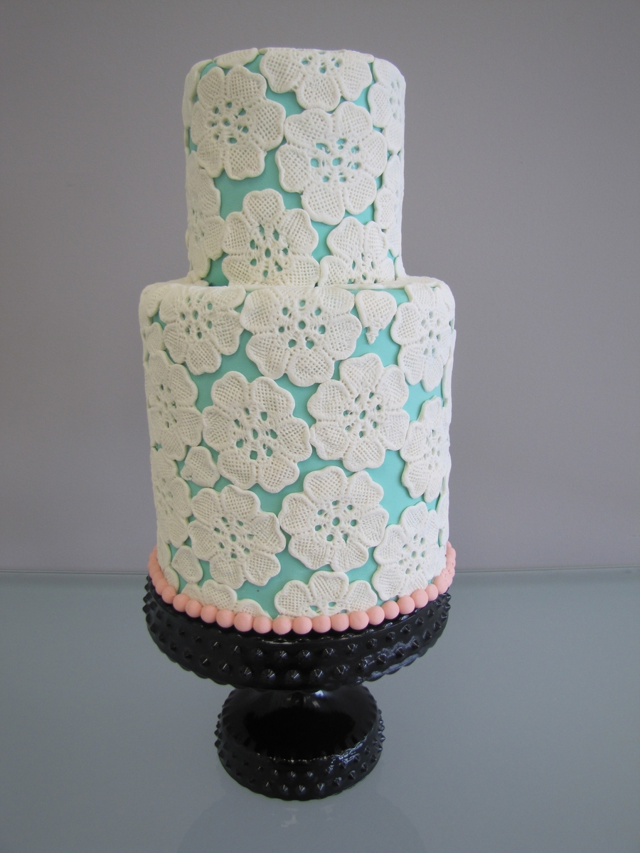 Lace Flower Cake on Cake Central