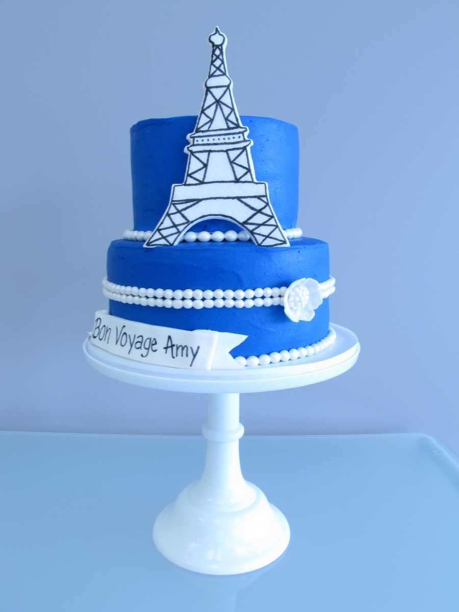 Parisian Bridal Shower Cake on Cake Central