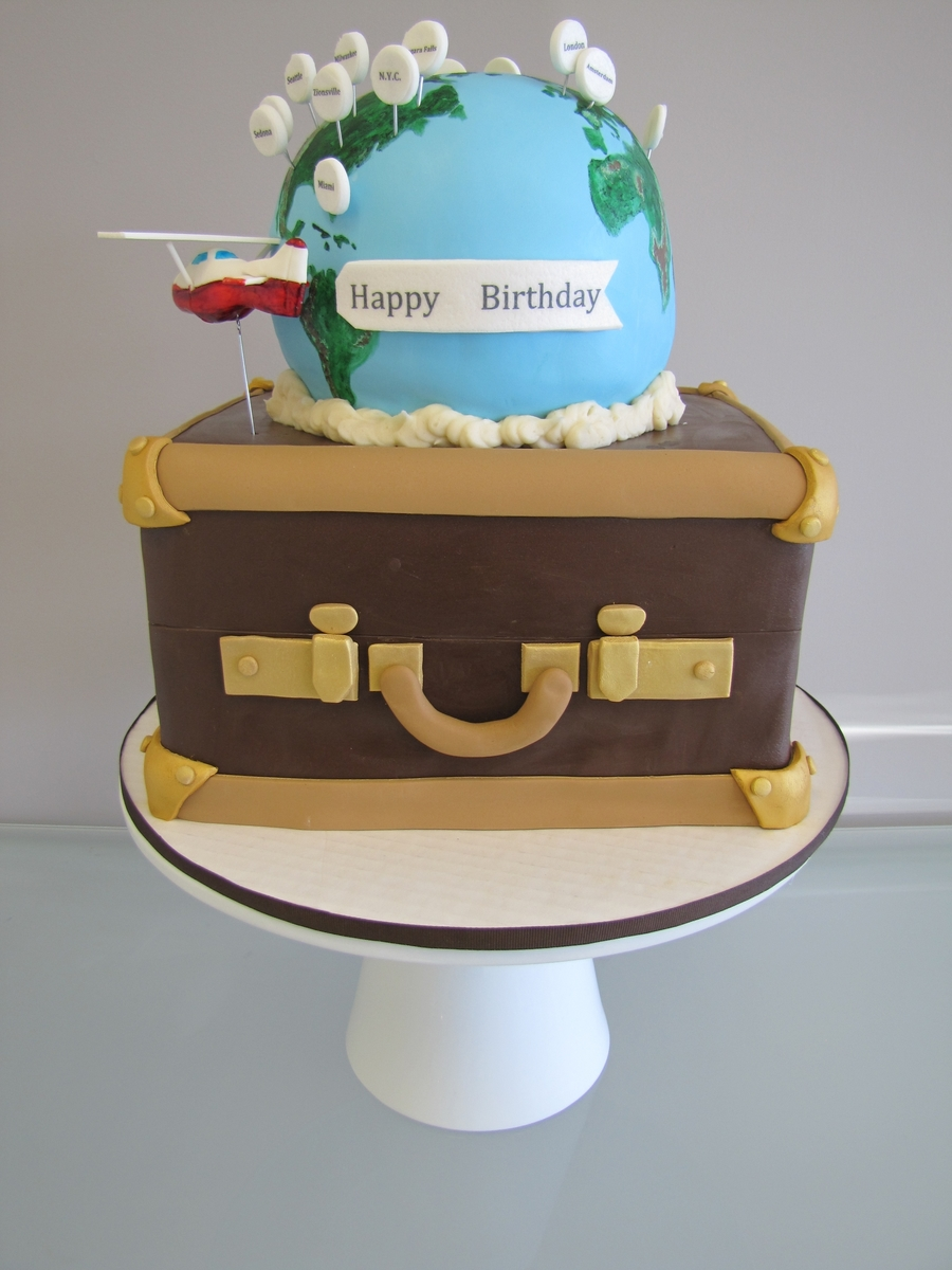 World Traveling Birthday Cake - CakeCentral.com