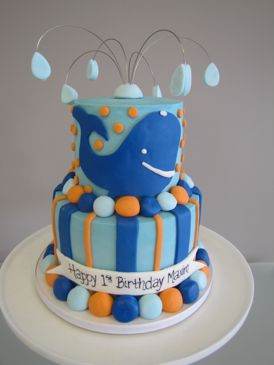 Whale Birthday Cake on Cake Central