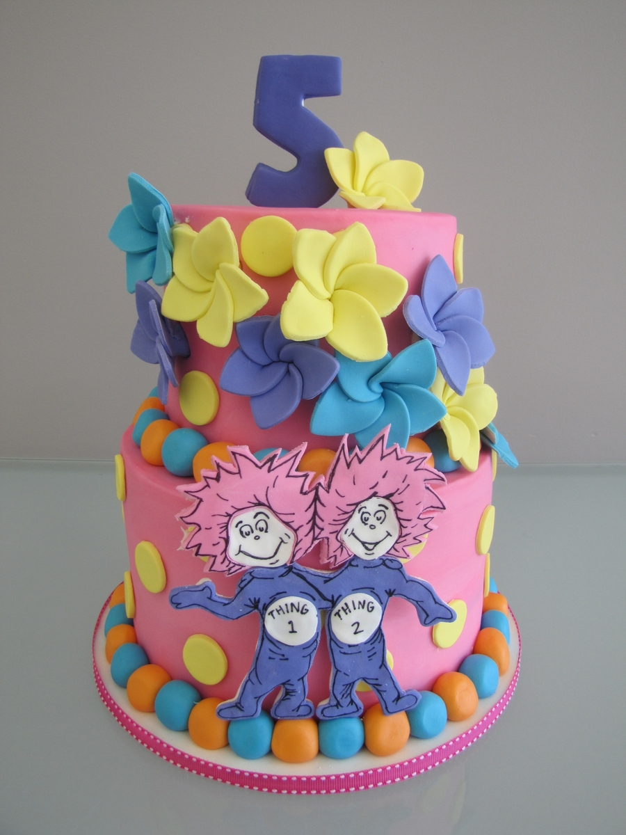 Thing 1 Thing 2 Cake For Twin Girls on Cake Central