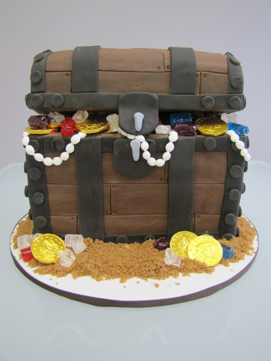 Treasure Chest Baby Shower Cake  on Cake Central