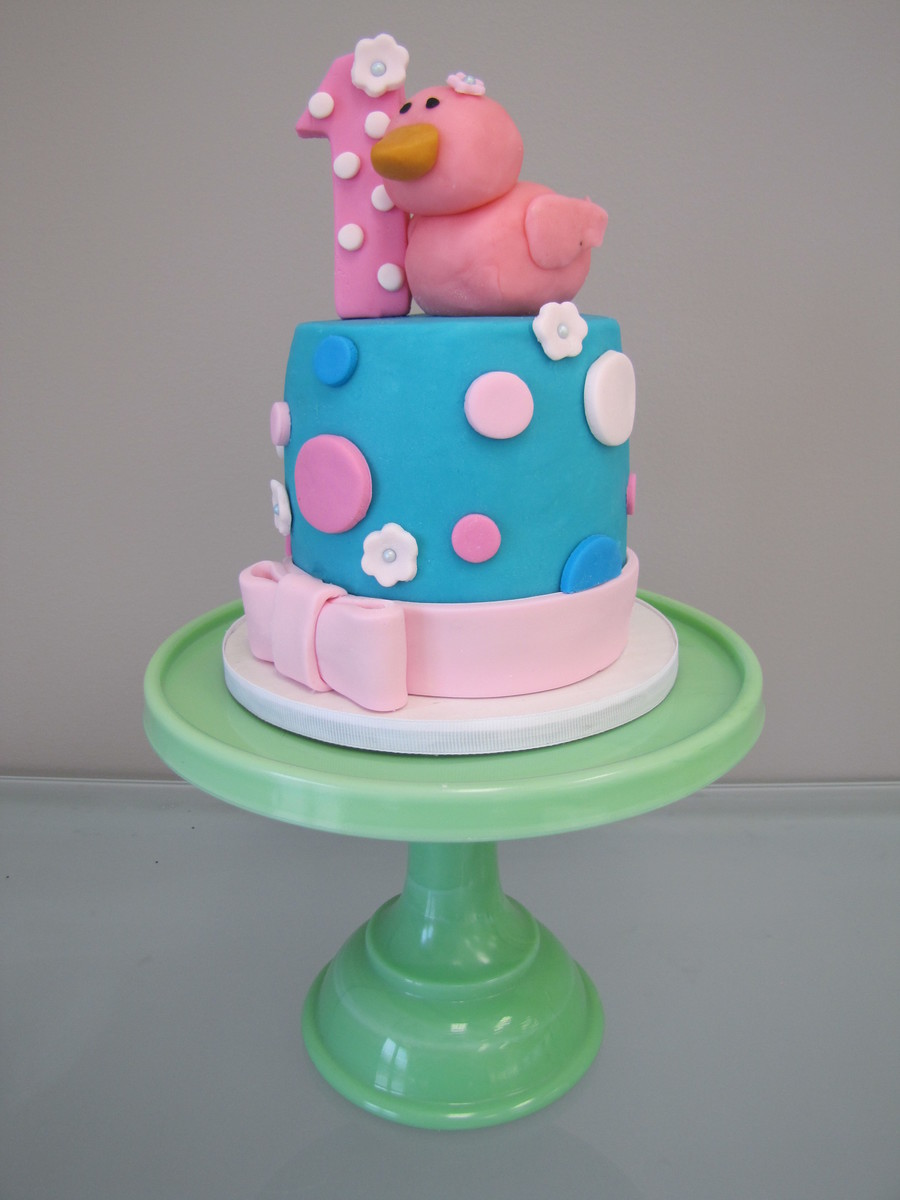 Rubber Ducky Smash Cake  on Cake Central