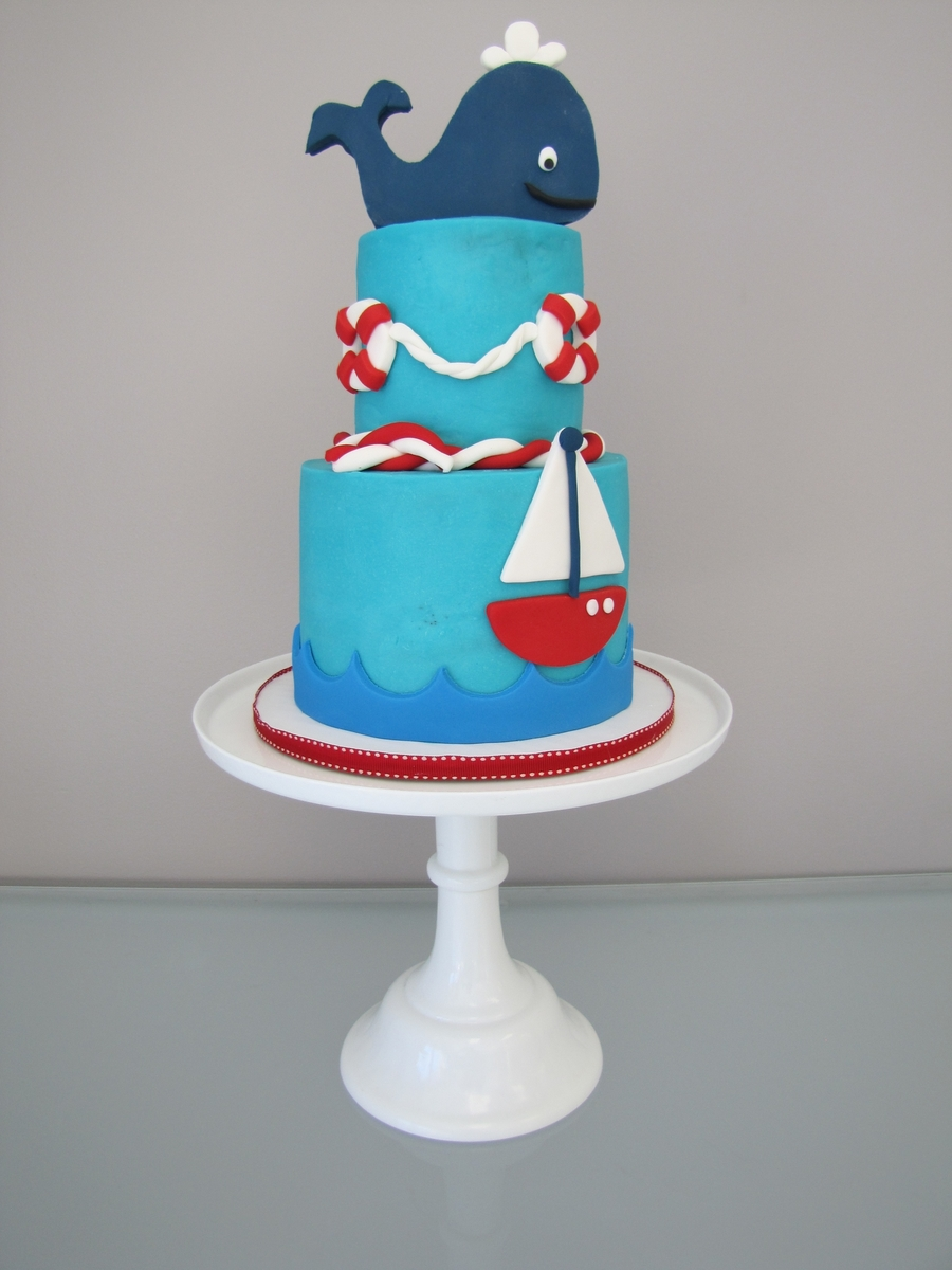 Nautical Baby Shower Cake Cakecentral Com