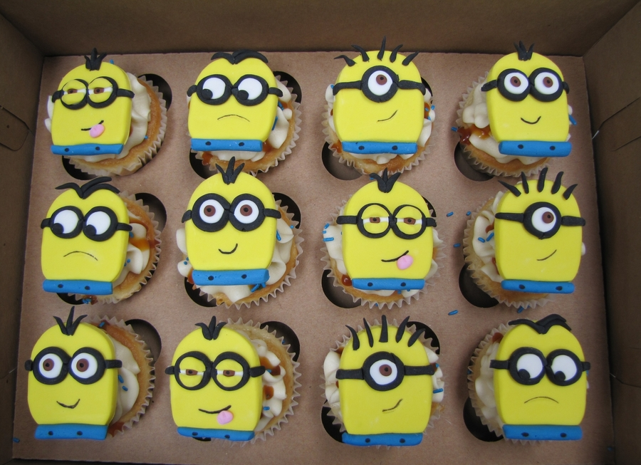 Despicable Me Minion Cupcakes on Cake Central