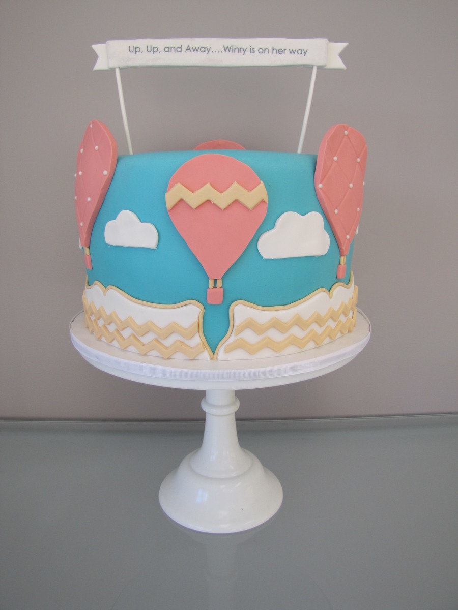 Hot Air Balloon Baby Shower Cake on Cake Central