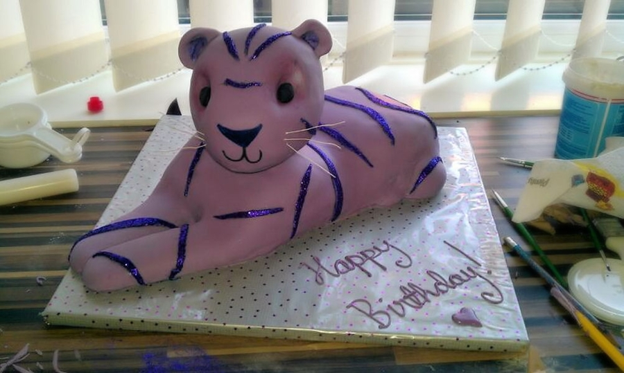 Purple Tiger on Cake Central