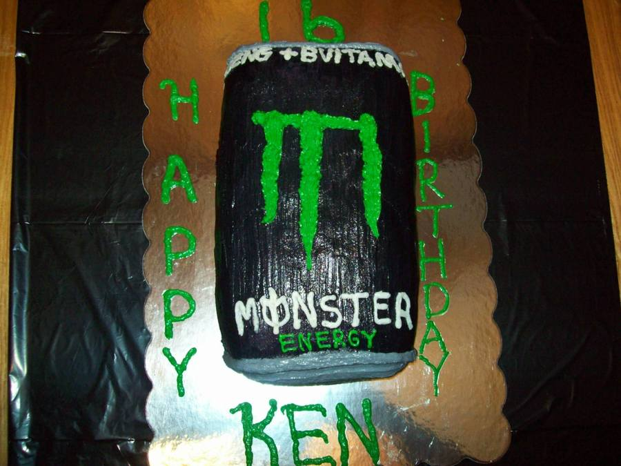 Monster Energy Drink on Cake Central