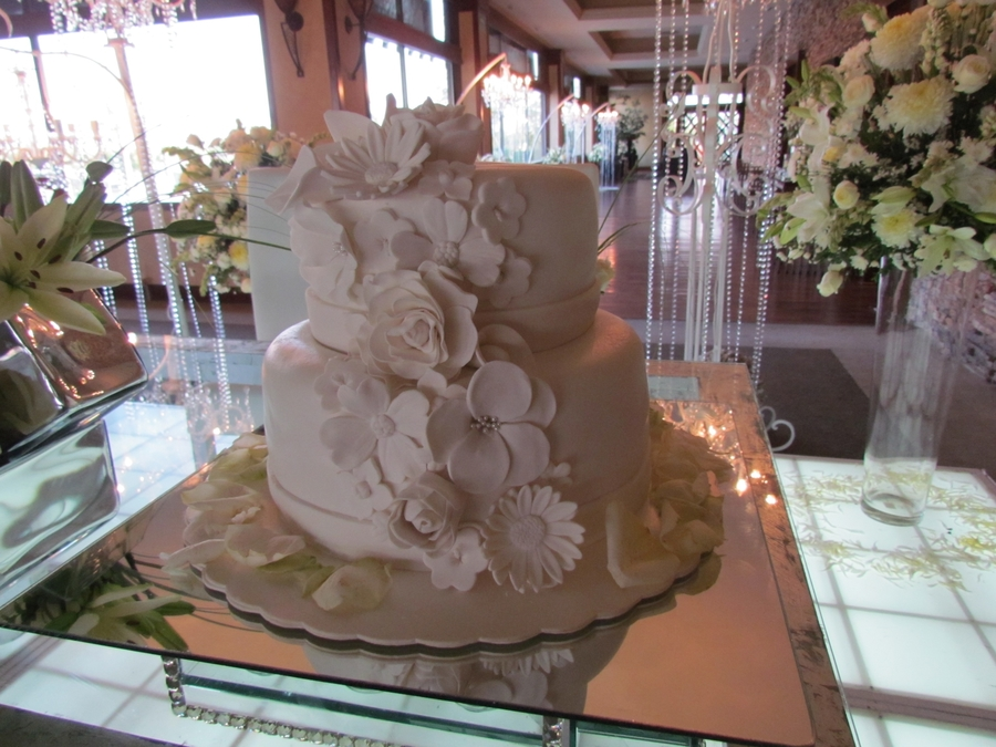 Flowers Wedding Cake on Cake Central