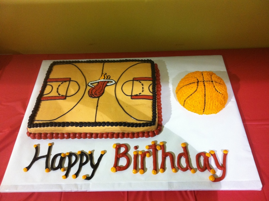 Miami Heat Basketball Birthday Cakes CakeCentralcom