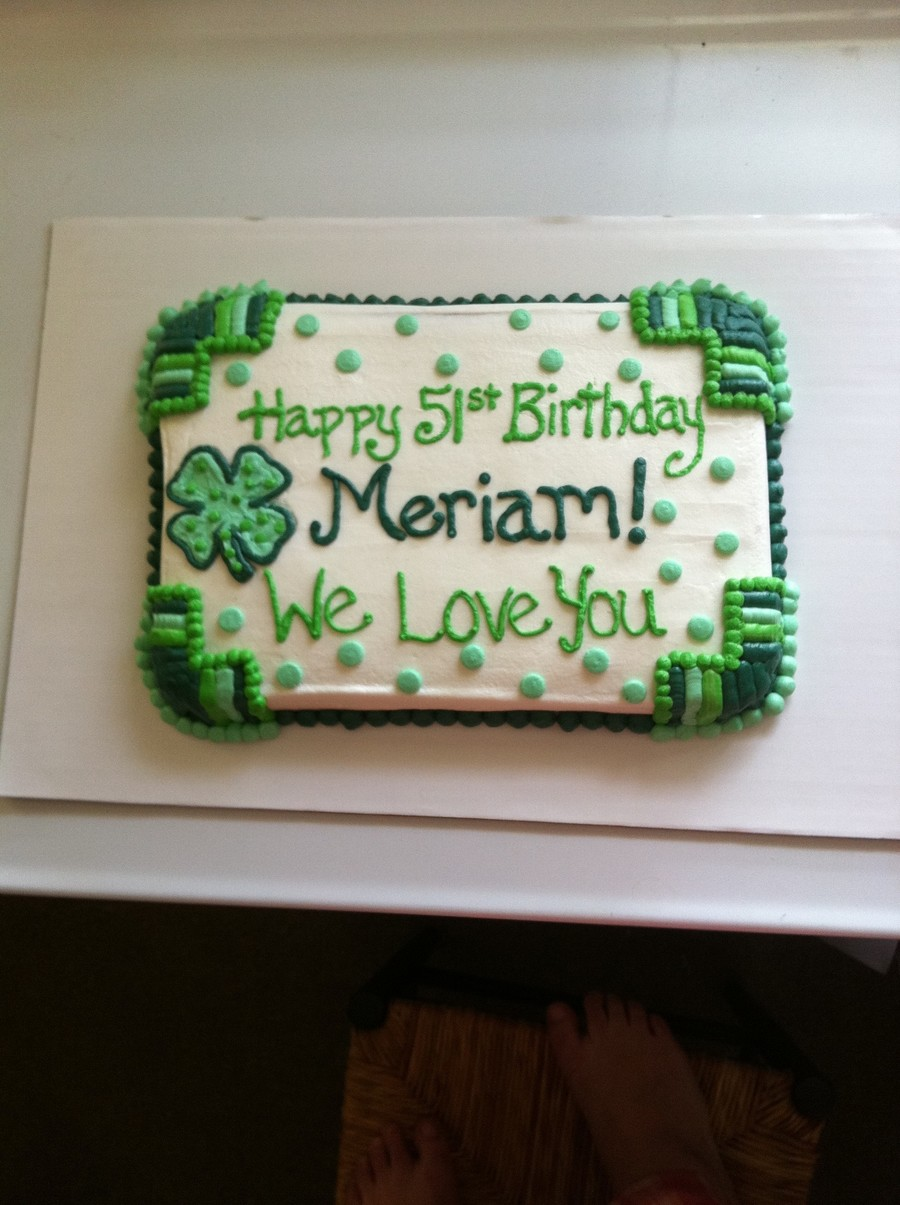Happy Birthday St Pattys Day Cake Cakecentral