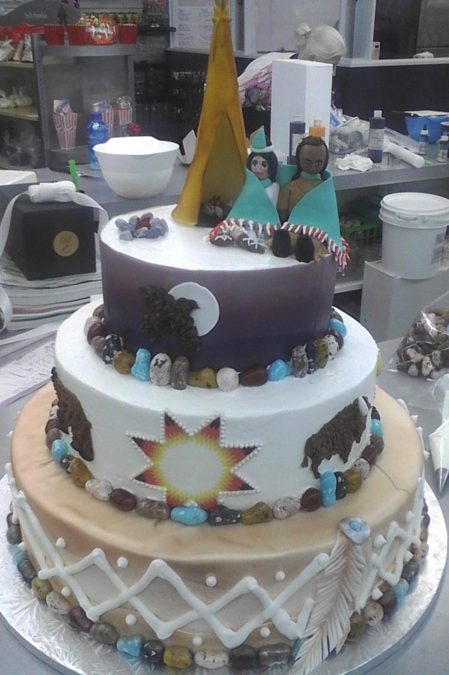 Birthday Native American Cake