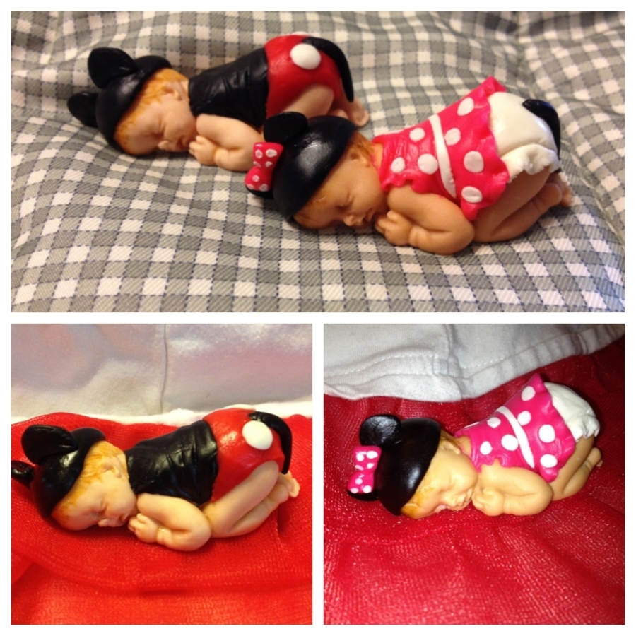 Mickey And Minnie Baby Figurines on Cake Central