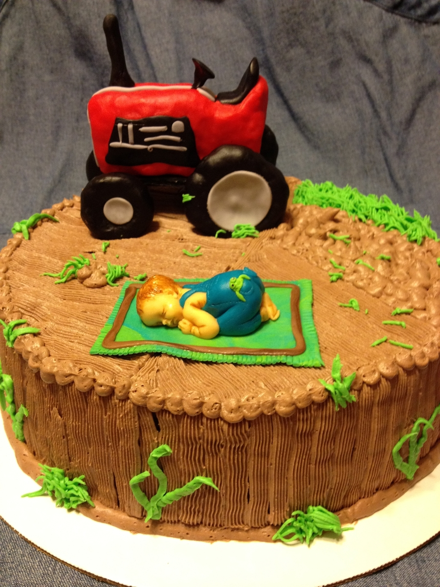 Farmer Baby Shower Cake. On Cake Central