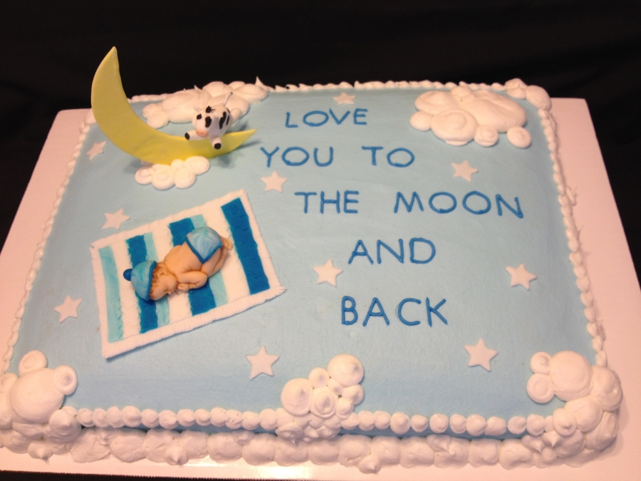 Baby Boy--Cow Jumping Over The Moon on Cake Central