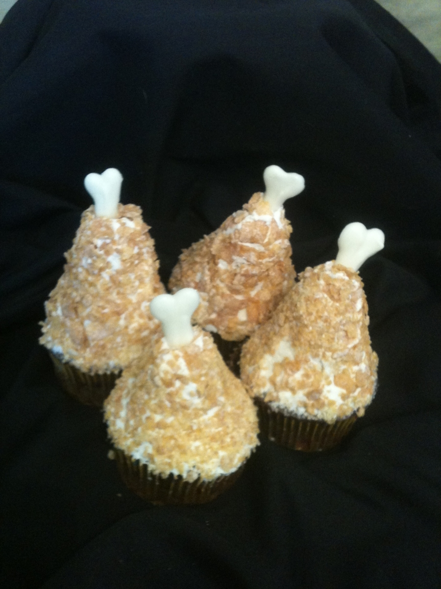 Fried Chicken Leg Cupcakes Cakecentral Com