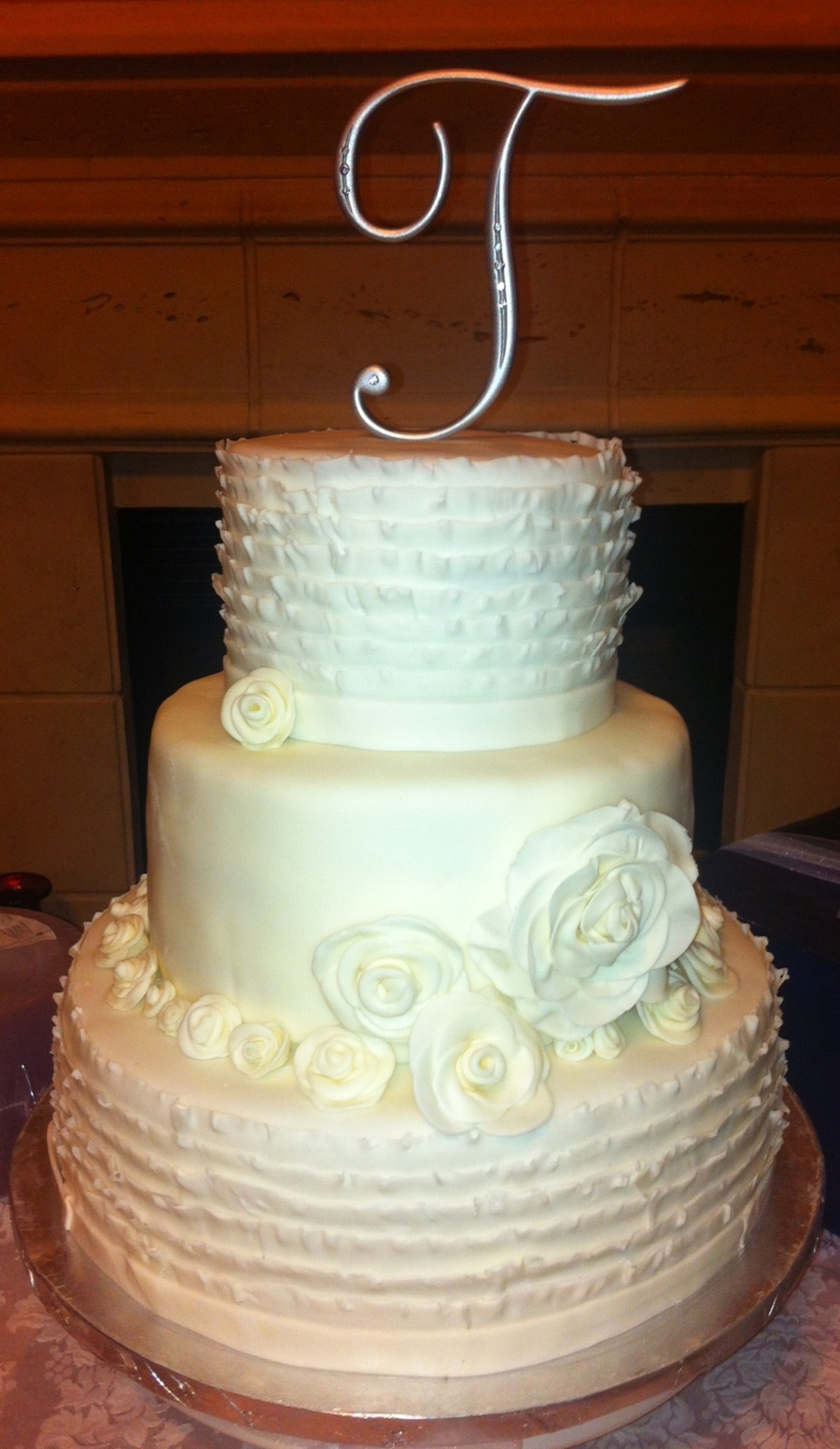 Ruffle Wedding Cake on Cake Central