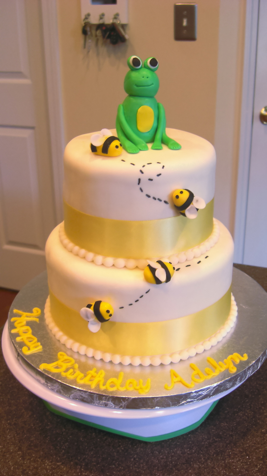 Frog And Bees on Cake Central