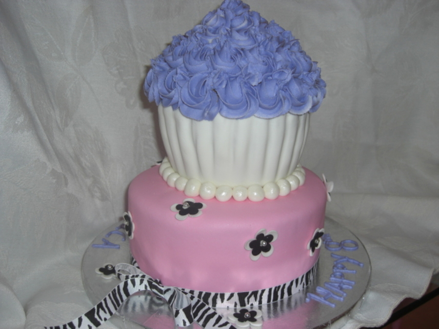 Giant Cupcake For A Princess on Cake Central