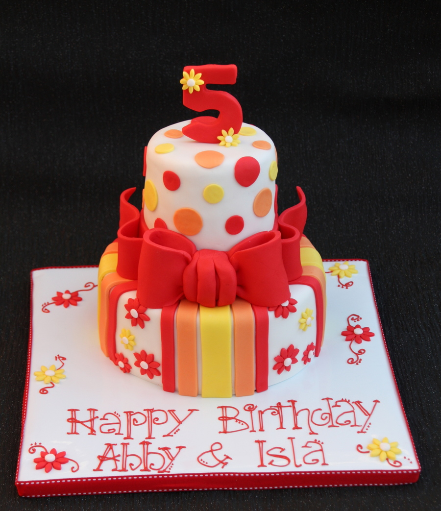 Spots And Stripes  on Cake Central